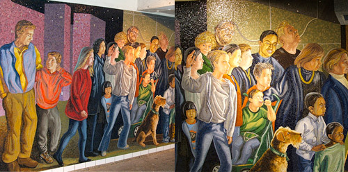 New York Subway Mosaic art